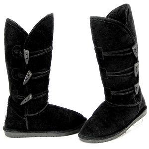 Bearpaw Buckingham Knee High Black Suede Boots